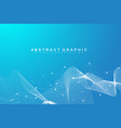 digits abstract background with connected line and vector image vector image