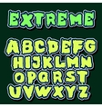 English alphabet in graffiti style vector image vector image