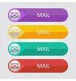flat buttons mail vector image