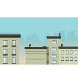 Flat design city landscape vector image vector image