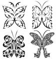 Four tribal butterflies vector image vector image