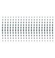 gentleman akimbo shape halftone grid vector image