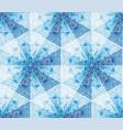 geometrical snowflakes mosaic seamless pattern vector image