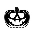 halloween pumpkin with happy face vector image