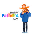 happy fathers day text vector image vector image