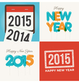 happy new year card set vector image vector image