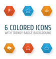 harmony icons set collection of cold climate vector image vector image