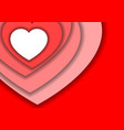 heart love symbol for valentines day from red vector image vector image
