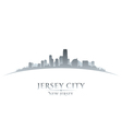Jersey city New Jersey skyline silhouette