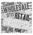 Launch your Home Based retail business through the vector image vector image