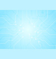light blue circuit board chip technology vector image