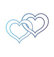 line nice heart symbol to love and passion vector image vector image
