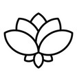 lotus plant icon outline style vector image vector image