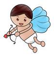love cupid angel fly bow arrow romantic vector image vector image