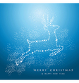 Merry Christmas reindeer background EPS10 file vector image vector image