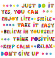 motivational slogans with funny hand drawn vector image vector image