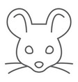 mouse thin line icon animal and zoo rat sign vector image vector image