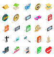 musician icons set isometric style vector image vector image