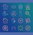 neon 2019 ncov outbreak pandemic coronavirus vector image vector image