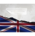 paper with hole and shadows UNITED KINGDOM flag vector image vector image