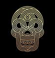 parallel lines skull symbol on black background vector image vector image