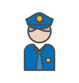 police and security people avatar icon on white vector image vector image