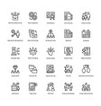 project management line icons set 7 vector image
