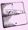 purse money vector image