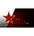 red star for decoration vector image vector image