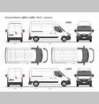 renault master cargo van mwb l2 2014-present vector image vector image