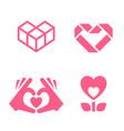 romantic icon designed for your design vector image
