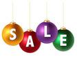 Sale Christmas Balls vector image
