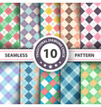seamless argyle plaid pattern vector image