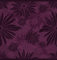 seamless floral pattern with dark and light purple vector image vector image