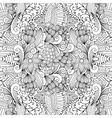 seamless pretty textile pattern with floral shapes vector image vector image