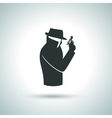 Secret agent icon vector image