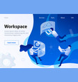 service banner organized and optimized workspace vector image
