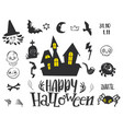 set for halloween party vector image vector image