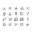 set of barbershop and beauty salon line icons vector image