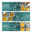 set of horizontal banners about apiary vector image vector image