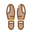 shoe sole detail icon outline vector image