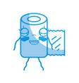silhouette kawaii cute happy pill pharmaceutical vector image vector image