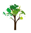 silhouette of tree with leaves vector image vector image