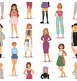 street fashion woman models hand drawn styles vector image vector image