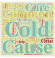 The Common Cold Can t Live With It Can t Live vector image vector image