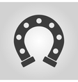 The horseshoe icon Horse and races symbol Flat vector image