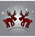 two christmas reindeer and stars eps10 vector image vector image