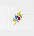 vs comic book frame versus blue vector image vector image