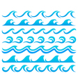 Wave element set vector image vector image