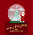 winter holidays snow ball christmas new year vector image